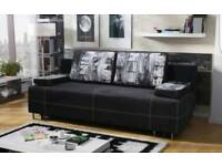 New sofa bed with storage Cindy, Amk Furniture, kanapa wersalka double bed