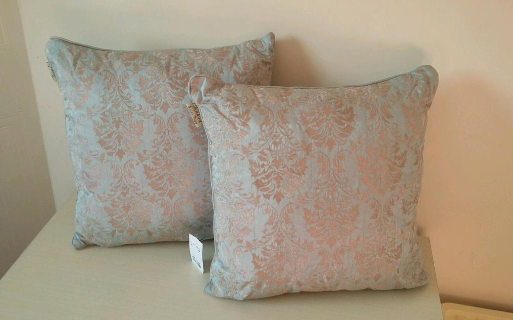 Vintage Style T K Maxx Home Sense Cushions Light Blue New