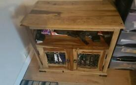 Jali solid wood tv cabinet and table