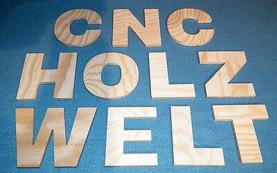 3D Holzbuchstabe 10 cm hoch aus Kiefernsperrholz natur Holzbuchstaben Holz