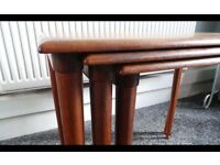 Danish Teak Retro Vintage Nest Of Three Tables,Can Deliver
