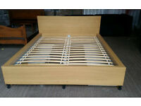 Ikea Malm Oak Kingsize Bed Frame
