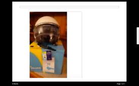 Vespa VJ Open Face Helmet , Medium White