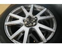 5 x 100 alloy wheels with 225/45/17 tyres