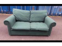 Green Fabric sofa bed can deliver local 07448733546