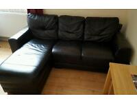Left hand corner sofa with chase end