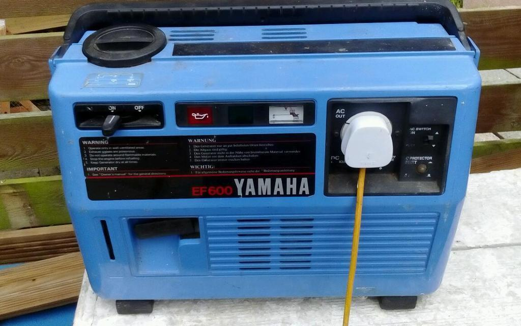 Yamaha ef600 silent suitcase generator camper etc in for Yamaha generator for sale
