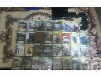 Xbox 360 slim 250gb over 30 games bundle