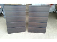 Pair of Black Chest of Drawers