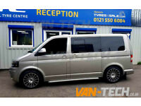 "VW Transporter T5 fitted with a Set of 18"" Wolfrace Turismo Alloy Wheels"