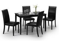 Brand New Julian Bowen HUDSON Dining Set - Table & 4 Dining Chairs - RRP: £272.99