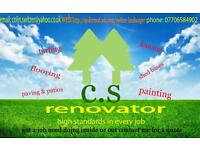 C.s renovator..experienced Painter & decorator, fencing, turfing, decking, tiling. And Much
