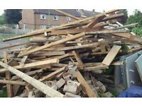 Free wood. Suitable for fires and log burners