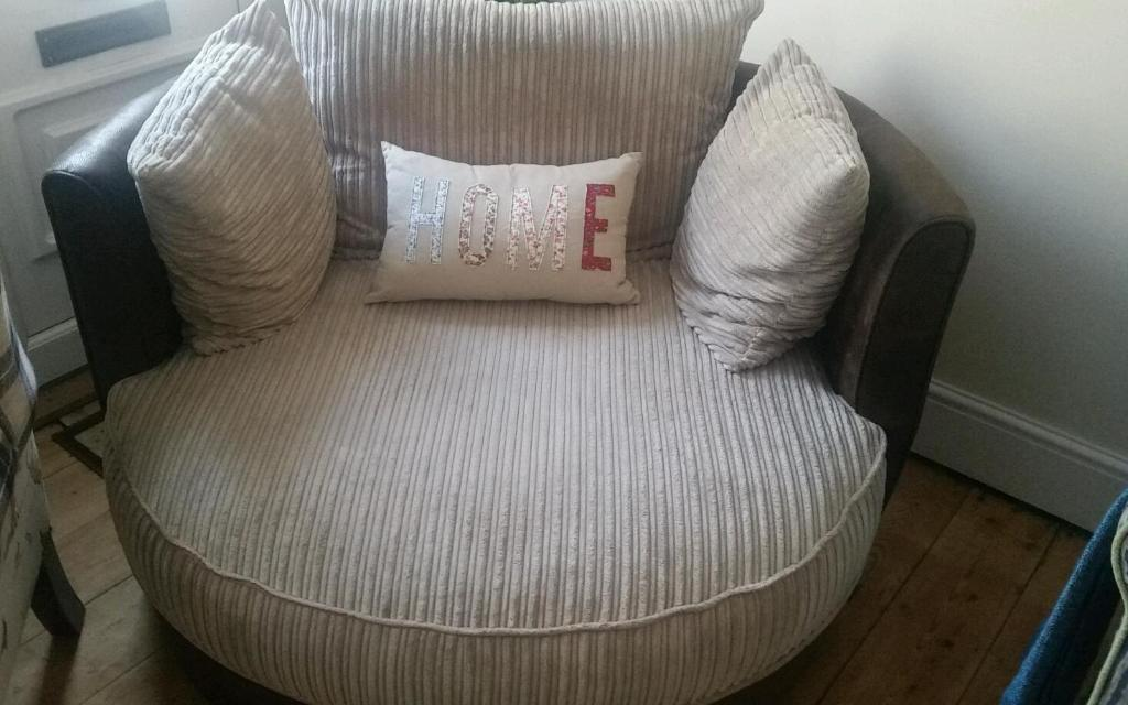 Lovely 360 Swivel Cuddle Chair In Cromer Norfolk Gumtree