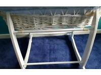 Moses basket complete and stand
