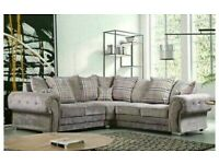 verona corner - 3 and 2 seater sofa set in grey color-cash on delivery