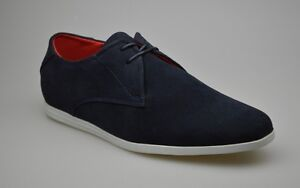 Mens-New-Fashion-Navy-Suede-Lace-Up-Smart-Casual-Shoes-UK-SIZE-6-7-8-9-10-11