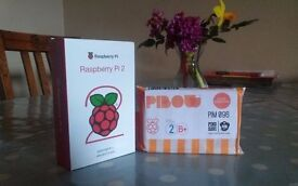 Raspberry Pi 2 & Pimoroni Pibow Coupe case - brand new, in retail packaging