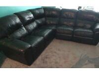 Black Corner sofa recliner
