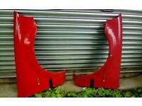 Honda civic 3 Dr red front car wings
