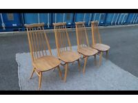 Ercol Vintage 4 Chairs,Delivery Available