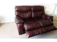 leather 3 piece suite recliner
