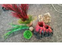 Fish tank plants accessories
