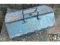 Vintage work man's tool chest / toolbox.