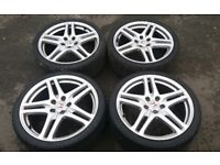 "19"" HONDA CIVIC TYPE R RAGE ALLOY WHEELS FN2 EP3 5 X 114.3 SOUGHT AFTER SET"