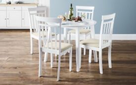 Brand New Julian Bowen COAST Dining Set - Table & 4 Chairs - Never Been Used, Brilliant Condition