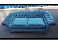 Two fabric chesterfield sofas,can deliver