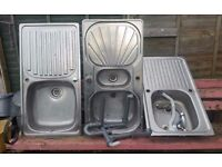 3 Sinks 1.5 bowl stainless steel. £30ono