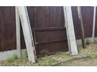 FENCE PANELS X2 CONCRETE POSTS X1 TIMBER POSTS X2 CONCRETE KICKBOARDS/ FENCE BASES