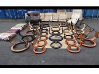 Massive EKORNES STRESSLESS ARMCHAIRS PARTS,NEW,WE CAN DELIVER