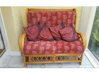 Small cane frame sofa