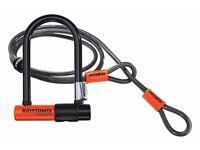 Brand New- Kryptonite Evolution Mini 7 Bike Lock & 4ft Flex Cable & Frame Bracket - Very Popular