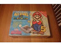 Collectors quality Super Nintendo Snes - Mario allstars and Mario world edition