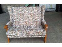 Vintage Wing Back 2 Seater Sofa