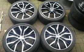 18 VW SANTIAGO STYLE ALLOY WHEELS 5 X 112 VW GOLF PASSAT T4 SEAT LEON IBIZA AUDI