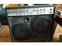 Power amp in cab with speakers