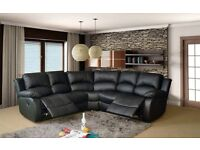 Durable RECLINER CORNER SOFA AND 3 AND 2 SEATER