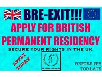 European National. Apply for your PR Today. Before UK Leaves Europe. BRE-EXIT!!!