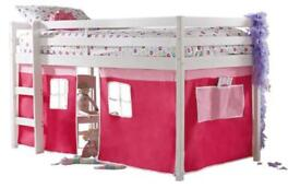 Mid sleeper bed with tent
