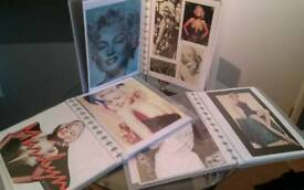 3 folders of marilyn monroe cuttings