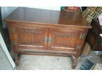 Vintage OAK wooden storage cabinet