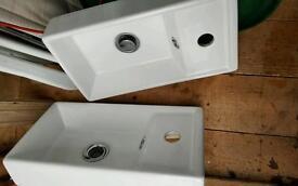 2 bathroom sinks and units