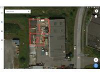 Builders yard, compound, storage, land.
