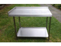 kitchen stainless steel catering table
