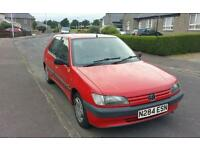 Peugeot 306 with very low miles and a years mot