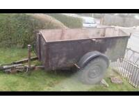 Trailer easily towed by car.approx 6ftx 4ft.inside.may deliver.